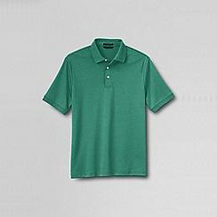 Lands' End - Green men's  short sleeve supima banded sleeve polo