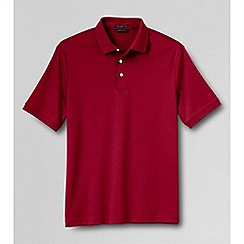 Lands' End - Red men's  short sleeve supima banded sleeve polo