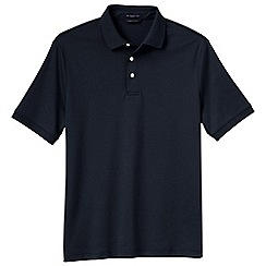 Lands' End - Blue men's short sleeved tailored fit supima polo
