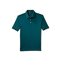 Lands' End - Green short sleeved tailored fit supima polo