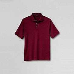 Lands' End - Red men's short sleeved tailored fit supima polo