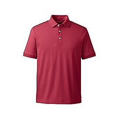 Lands' End - Pink short sleeved tailored fit supima polo