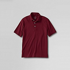 Lands' End - Red short sleeved tailored fit supima polo