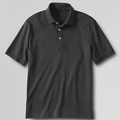 Lands' End - Grey men's short sleeved tailored fit supima polo