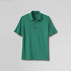 Lands' End - Green men's short sleeved tailored fit supima polo