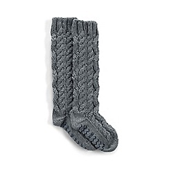 Lands' End - Grey slipper socks