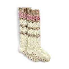 Lands' End - Cream slipper socks
