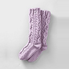 Lands' End - Purple women's slipper socks