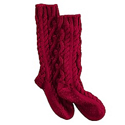 Lands' End - Red women's slipper socks