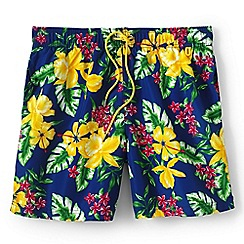 Lands' End - Blue regular patterned 6.5 swim shorts