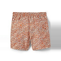 Lands' End - Orange regular patterned 6.5 swim shorts