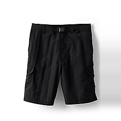 Lands' End - Black shakedry cargo swim shorts