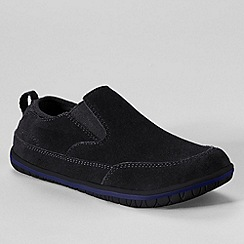 Lands' End - Black boys' liam casual slip-on shoes