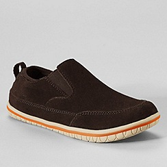 Lands' End - Brown boys' liam casual slip-on shoes