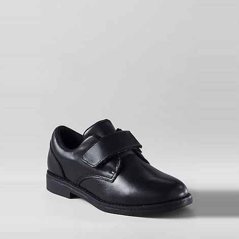 Lands+ End - Black boys+ aiden oxford leather shoes