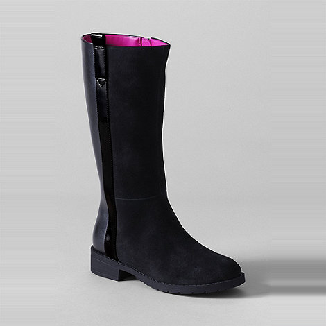 Lands+ End - Black girls+ marley riding boots