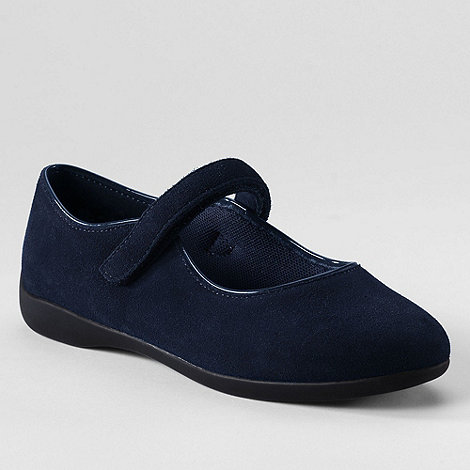 Lands+ End - Blue girls+ mary jane shoes