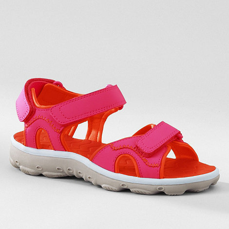 Lands+ End - Pink kids action sandals