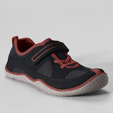 Lands+ End - Black boys+ rip tape water shoes