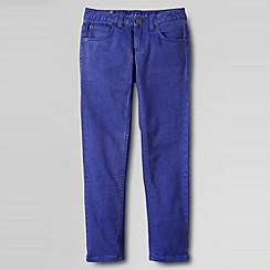 Lands' End - Blue girls' 5-pocket coloured slim pencil leg jeans