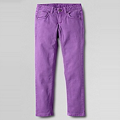 Lands' End - Purple girls' 5-pocket coloured slim pencil leg jeans