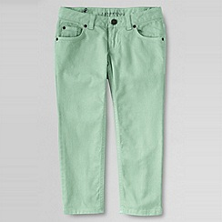 Lands' End - Green girls' coloured denim 5-pocket capris