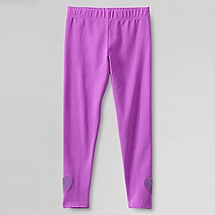 Lands' End - Purple girls' sequin heart hem legging