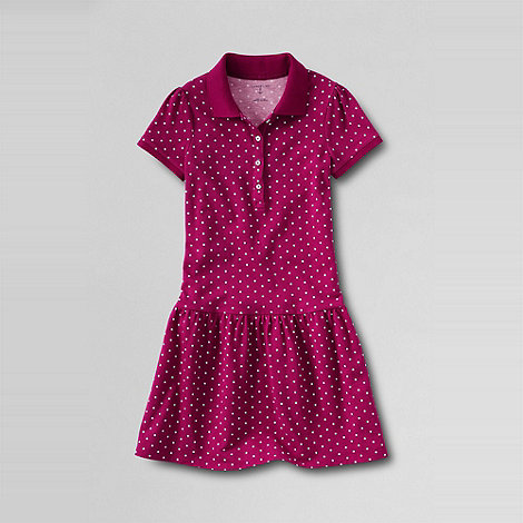 Lands+ End - Pink girls+ polo dress