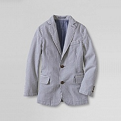 Lands' End - Blue boys' washed seersucker blazer