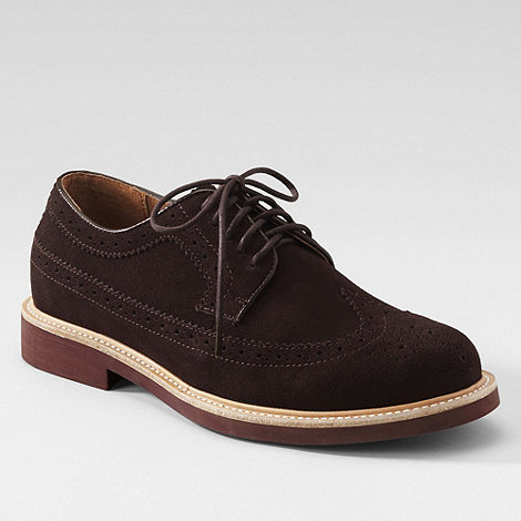 Lands+ End - Brown men+s archer suede brogues