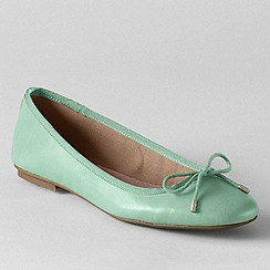 Lands' End - Green women's bianca bow ballet shoes
