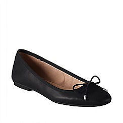 Lands' End - Black women's bianca bow ballet shoes