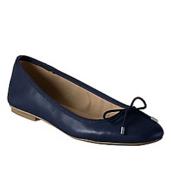 Lands' End - Blue bianca bow ballet shoes