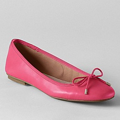 Lands' End - Pink women's bianca bow ballet shoes
