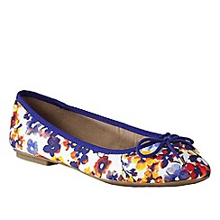 Lands' End - Blue women's bianca bow ballet shoes