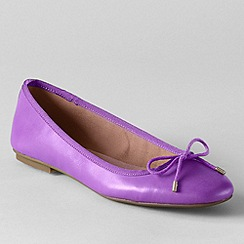 Lands' End - Purple women's bianca bow ballet shoes