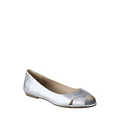 Lands' End - Metallic blythe open toe ballet shoes