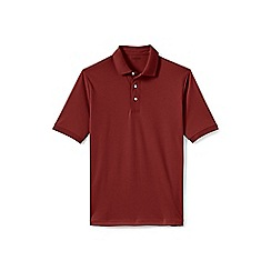 Lands' End - Brown short sleeve supima banded sleeve polo