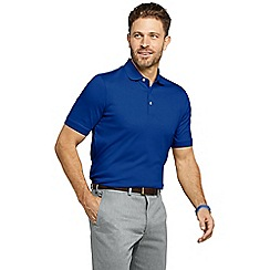 Lands' End - Blue tall  short sleeve supima banded sleeve polo