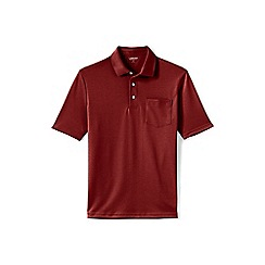 Lands' End - Brown supima polo with pocket
