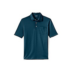 Lands' End - Green supima polo with pocket