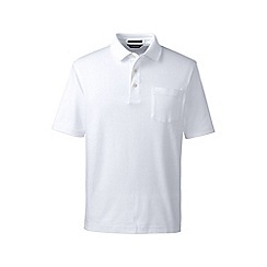Lands' End - White supima polo with pocket