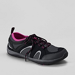 Lands' End - Black women's trekker light trail shoes
