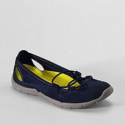 Lands' End - Blue everyday suede bungee slip-ons