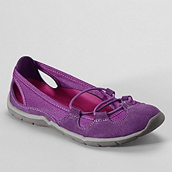 Lands' End - Purple everyday suede bungee slip-ons