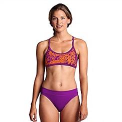 Lands' End - Multi women's aquaterra brazil scoopneck bikini top