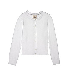 Lands' End - Girls' toddler white plain sophie cardigan