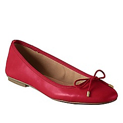 Lands' End - Red women's wide bianca bow ballet shoes