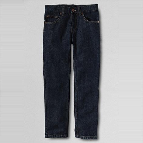 Lands+ End - Blue boys+ slim fit iron knee jeans