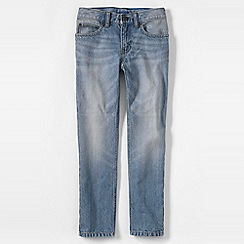 Lands' End - Blue little boys' slim fit iron knee jeans